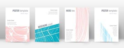 Plantilla del diseño de la página de cubierta Endecha geométrica del folleto libre illustration