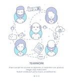 Plantilla del diseño de la página web del perfil de compañía, trabajo en equipo, flujo de trabajo del negocio corporativo, oportu imagenes de archivo