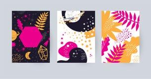 Plantilla del diseño de la postal o del cartel stock de ilustración