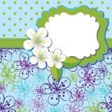 Plantilla del diseño de la primavera. La cereza florece el fondo a Imagenes de archivo