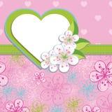 Plantilla del diseño de la primavera. La cereza florece el fondo a Foto de archivo