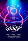Plantilla del diseño de Live Music Party Imágenes de archivo libres de regalías
