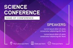 Plantilla del diseño de negocio de la conferencia de la ciencia Reunión de la publicidad del márketing del aviador del folleto de libre illustration