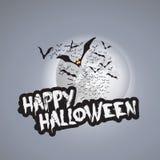 Plantilla del diseño de tarjeta del feliz Halloween - ejemplo del vector Imagen de archivo