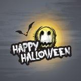 Plantilla del diseño de tarjeta del feliz Halloween - ejemplo del vector Fotografía de archivo libre de regalías