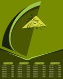 Plantilla del diseño de tarjeta del menú Imágenes de archivo libres de regalías