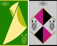 Plantilla del diseño de tarjeta del menú Imagenes de archivo