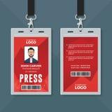 Plantilla del diseño de tarjeta de la identificación de la prensa ilustración del vector