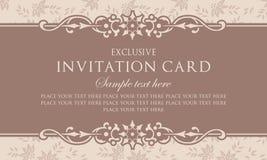 Plantilla del diseño de tarjeta de la invitación - estilo del vintage Imagen de archivo libre de regalías