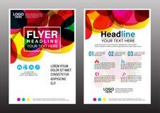 Plantilla del diseño del aviador del informe anual del folleto Imágenes de archivo libres de regalías