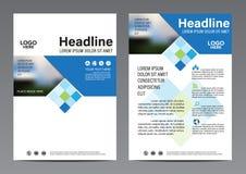 Plantilla del diseño del aviador del informe anual del folleto Imagen de archivo