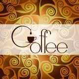 Plantilla del diseño del café Ejemplo del vector plano Foto de archivo libre de regalías