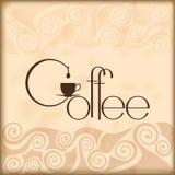 Plantilla del diseño del café Ejemplo del vector plano Fotografía de archivo libre de regalías