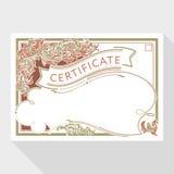 Plantilla del diseño del diploma y del certificado Imagenes de archivo