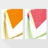 Plantilla del diseño del diploma y del certificado Imagen de archivo libre de regalías
