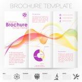 Plantilla del diseño del folleto Imagen de archivo libre de regalías