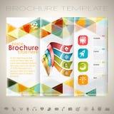 Plantilla del diseño del folleto Imagen de archivo