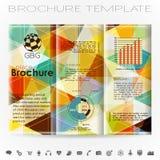 Plantilla del diseño del folleto Imágenes de archivo libres de regalías