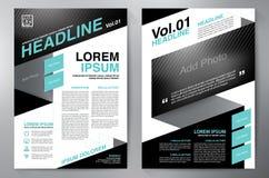 Plantilla del diseño a4 del folleto Imagen de archivo