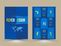 Plantilla del diseño del folleto del vector stock de ilustración