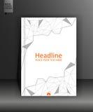 Plantilla del diseño del folleto en polivinílico bajo A4 Vector Fotos de archivo libres de regalías