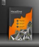 Plantilla del diseño del folleto en polivinílico bajo A4 Vector Fotografía de archivo libre de regalías