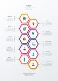 Plantilla del diseño del infographics del vector con la etiqueta del papel 3D stock de ilustración