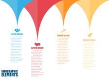 plantilla del diseño del Información-gráfico Imagen de archivo libre de regalías