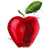 Plantilla del diseño del logotipo de Apple icono de la comida o de la fruta Foto de archivo libre de regalías
