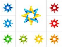 Plantilla del diseño del logotipo de la estrella Imágenes de archivo libres de regalías