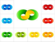 Plantilla del diseño del logotipo de la muestra del infinito Fotos de archivo libres de regalías
