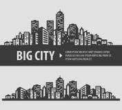 Plantilla del diseño del logotipo del vector de ciudad y del pueblo Imagen de archivo libre de regalías