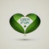 Plantilla del diseño del logotipo del vector de la naturaleza ecología o bio Imagen de archivo libre de regalías