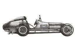 Plantilla del diseño del logotipo del vector del coche de competición transporte Imágenes de archivo libres de regalías