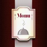 Plantilla del diseño del menú Fotografía de archivo
