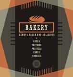 Plantilla del diseño del menú de los artículos de panadería Imagen de archivo libre de regalías