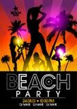 Plantilla del diseño del partido de la playa Imagenes de archivo