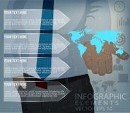 Plantilla del diseño del vector de Infographics del negocio Stock de ilustración