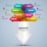 Plantilla del diseño del vector de la carta de la flecha de Infographic Foto de archivo libre de regalías