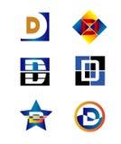 Plantilla del diseño del vector de la compañía de la letra de Corporate Logo D Fotos de archivo libres de regalías