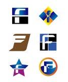 Plantilla del diseño del vector de la compañía de la letra de Corporate Logo F Fotos de archivo libres de regalías