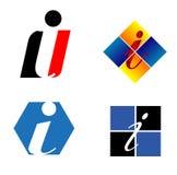 Plantilla del diseño del vector de la compañía de la letra de Corporate Logo i Imagenes de archivo