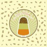Plantilla del diseño del vector de la cubierta del menú del helado del restaurante Fotografía de archivo libre de regalías