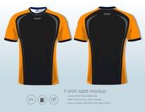 Plantilla del diseño del deporte de la camiseta para el club del fútbol o toda la ropa de deportes Fotografía de archivo libre de regalías