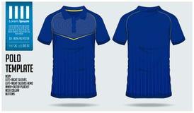 Plantilla del diseño del deporte de la camiseta del polo para el jersey de fútbol, el equipo del fútbol o el club de deporte Divi libre illustration