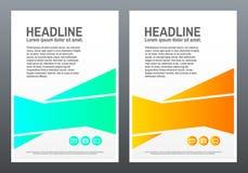 Plantilla del diseño del folleto Formas brillantes en el fondo blanco Diseño creativo para el aviador, bandera, cartel en a4 tren stock de ilustración