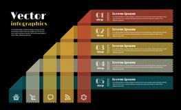 Plantilla del diseño moderno para el infographics Fotografía de archivo