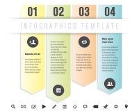 Plantilla del diseño moderno para los gráficos de la información libre illustration