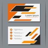 Plantilla del diseño del vector de la tarjeta de visita del negocio Imagen de archivo