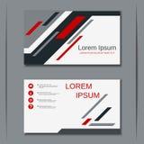 Plantilla del diseño del vector de la tarjeta de visita del negocio Fotos de archivo libres de regalías